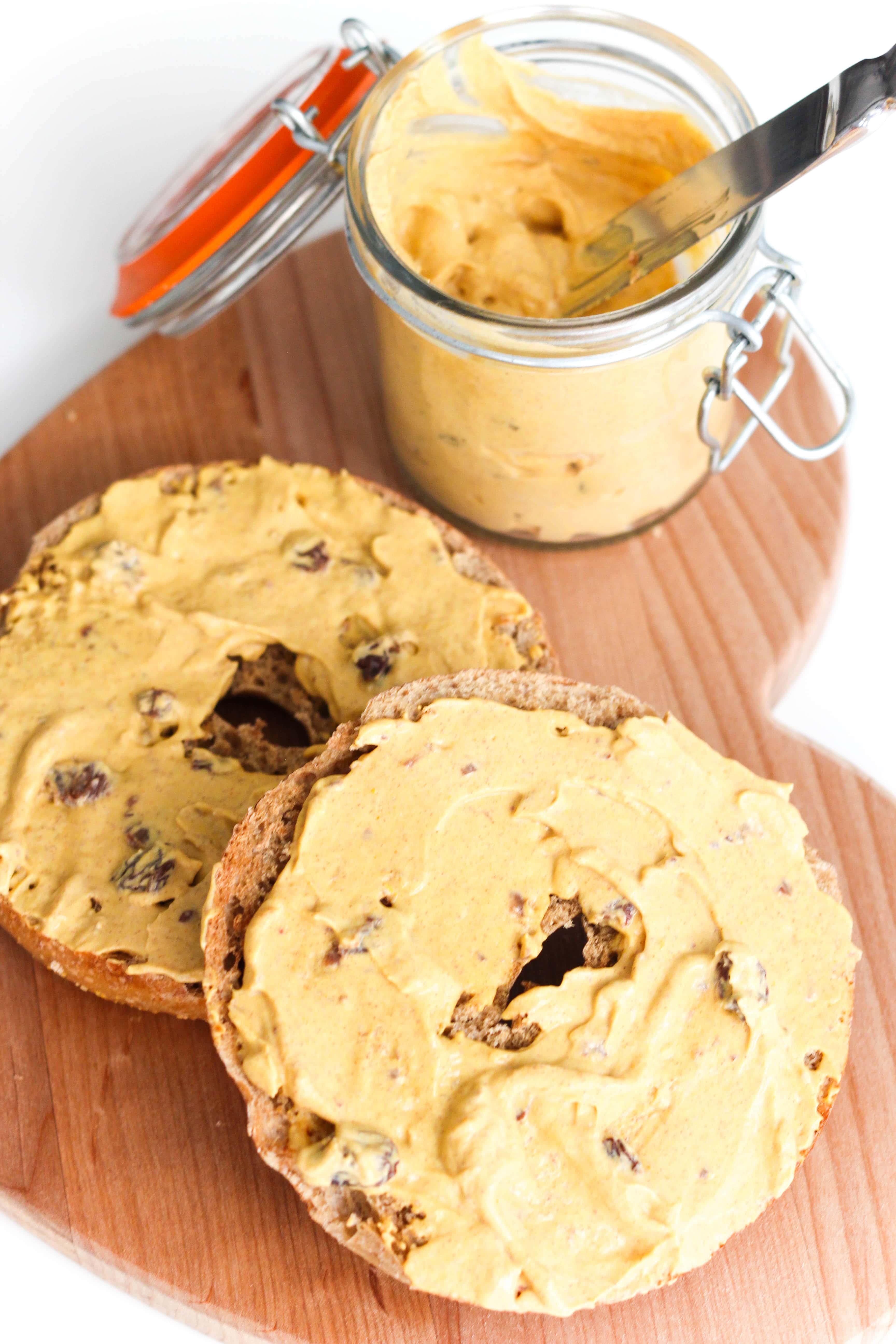 Cinnamon Raisin Pumpkin Cream Cheese Spread Walder Wellness Rd