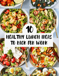 roundup of 10 healthy lunch ideas to pack for work