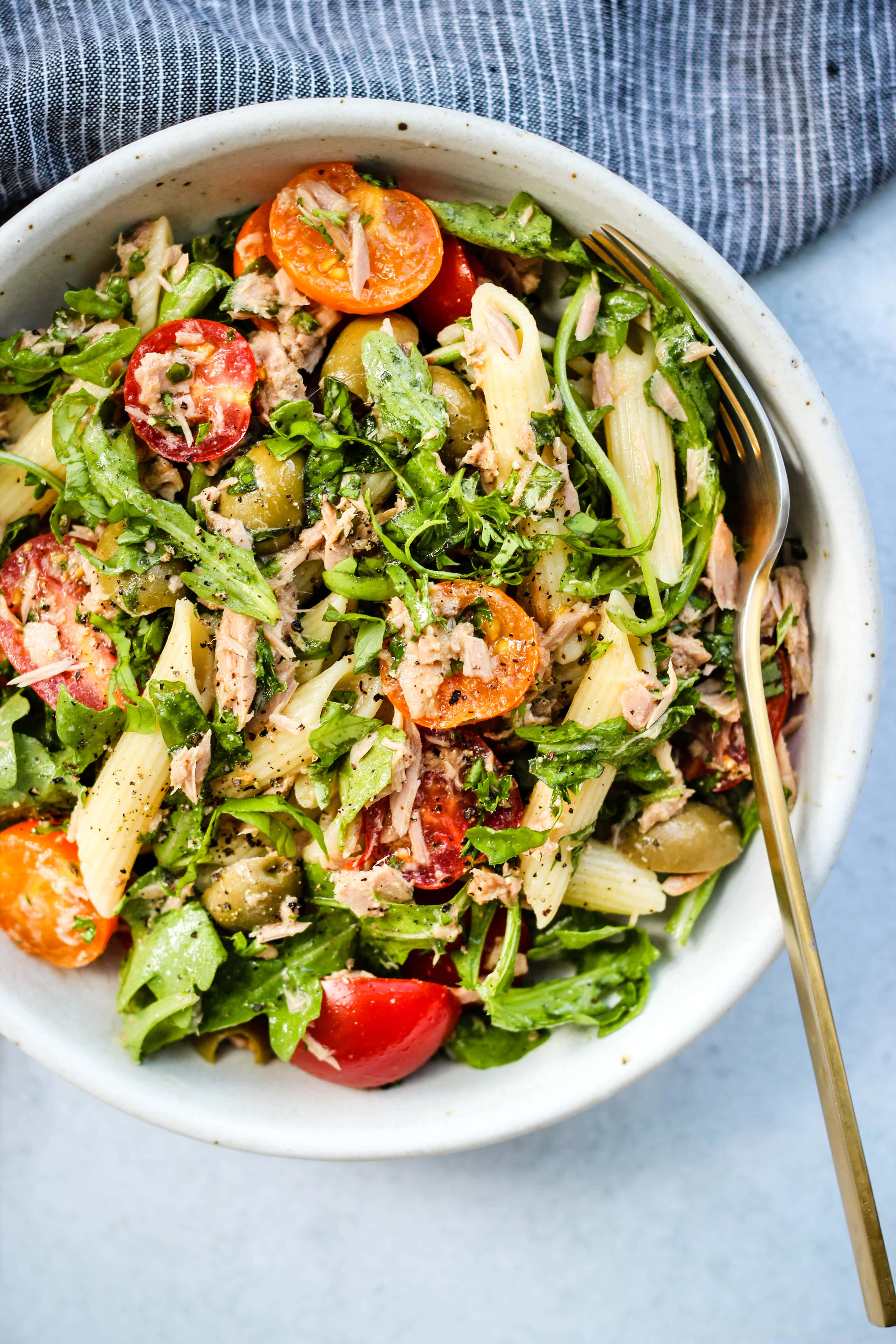 20 Minute Healthy Tuna Pasta Salad Walder Wellness Dietitian
