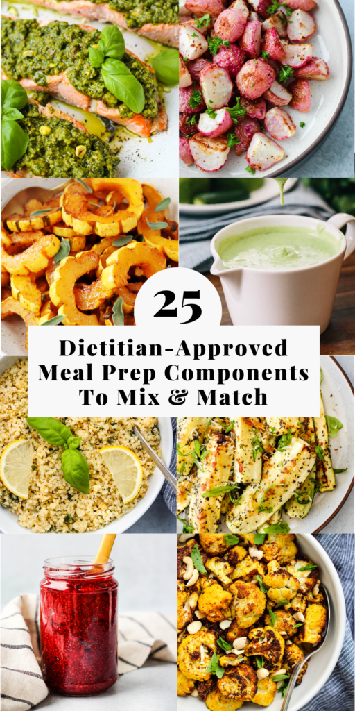 meal prep components to make mix and match meals