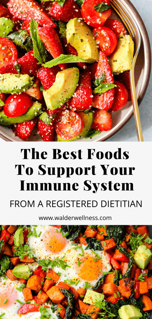 nutrition and the immune system pinterest graphic
