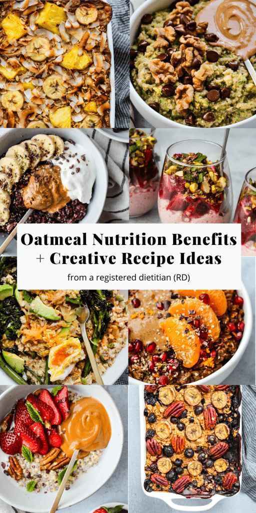 oatmeal nutrition benefits and creative recipe ideas pinterest graphic